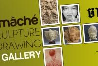 Signboard - Jayavart, gallery and workshop specializing in papier-mâché sculptures - Siem Reap Cambodia