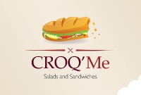 Logo - CROQ'Me Salads and Sandwiches, Siem Reap