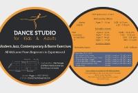 Round Leaflet - Dance Studio - Siem Reap Cambodia